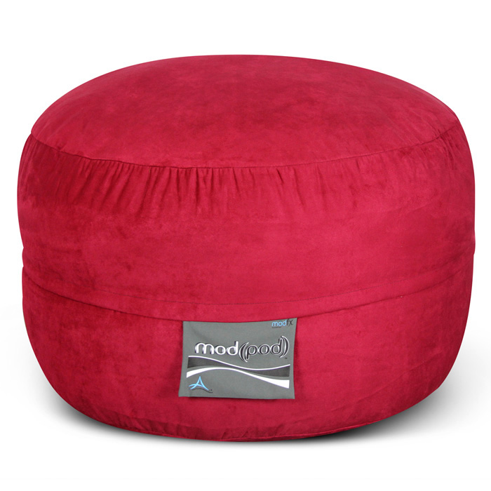 Mod Pod Bean Bag for Kids - Lipstick Red Suede - EL-32-7014-461