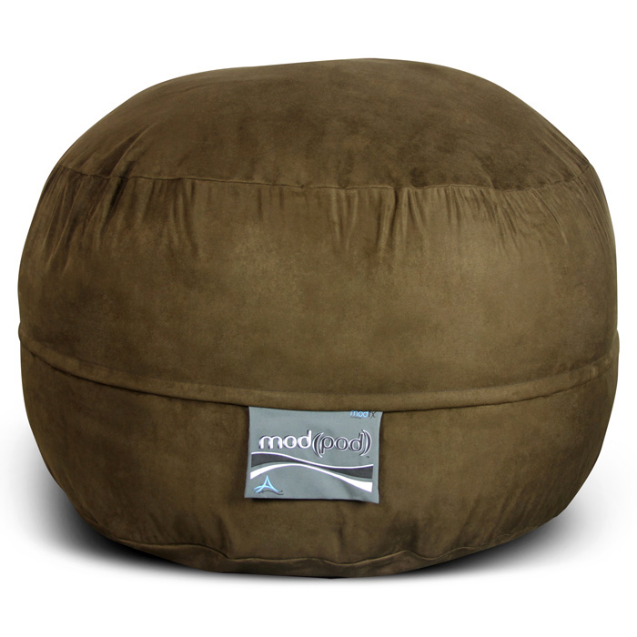 Mod Pod 40 Inch Suede Bean Bag - Chocolate