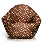 Classic Bean Bag in Brown with Pink and Yellow Dots for Kids