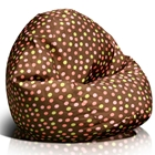Classic Medium Bean Bag in Brown with Pink and Yellow Dots