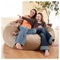 Mod Pod Chocolate Faux Suede 52 inch Bean Bag - EL-32-6503-165