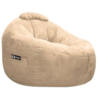 Omega Fawn Faux Suede Lounger Bean Bag