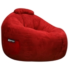Omega Lipstick Red Faux Suede Lounger Bean Bag
