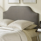 Bordeaux Dolphin Gray Upholstered Fabric Headboard
