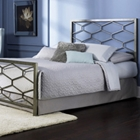 Camden Metal Bed with Geometric Panels