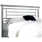 Chatham Modern Metal Headboard in Brushed Satin