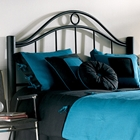 Linden Metal Headboard in Matte Ebony