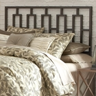 Miami Duo Panel Metal Headboard in Coffee Finish