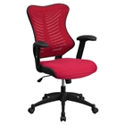 Mesh Executive Office Chair - High Back, Adjustable, Gray