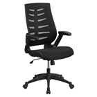 Mesh Executive Office Chair - High Back, Swivel, Adjustable, Black