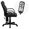 Massaging Executive Swivel Office Chair - High Back, Leather, Black - FLSH-BT-2690P-GG