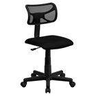 Mesh Swivel Task Chair - Low Back, Black