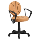 Basketball Task Chair - with Arms, Height Adjustable, Swivel