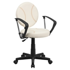 Baseball Task Chair - with Arms, Height Adjustable, Swivel