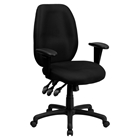Executive Swivel Office Chair - Multi Functional, High Back, Black