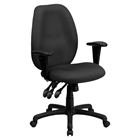 Executive Swivel Office Chair - Multi Functional, High Back, Gray