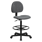 Fabric Drafting Chair - Gray