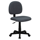 Fabric Swivel Task Chair - Low Back, Gray