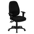 Executive Swivel Office Chair - High Back, Adjustable, Black