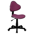 Fabric Swivel Task Chair - Height Adjustable, Lavender
