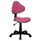 Fabric Swivel Task Chair - Height Adjustable, Pink