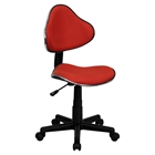 Fabric Swivel Task Chair - Height Adjustable, Red