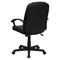 Leather Executive Swivel Office Chair - Mid Back, Black - FLSH-BT-8075-BK-GG