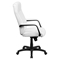 Leather Executive Swivel Office Chair - High Back, White - FLSH-BT-90033H-WH-GG