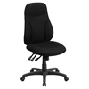 Fabric Swivel Task Chair - Multi Functional, High Back, Black