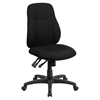 Fabric Swivel Task Chair - Mid Back, Multi Functional, Black