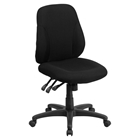 Fabric Task Chair - Mid Back, Multi Functional, Black