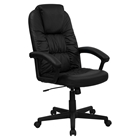 Executive Office Chair - High Back, Height Adjustable, Swivel, Black