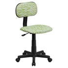 Zebra Swivel Task Chair - Green and White