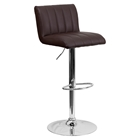 Faux Leather Adjustable Height Barstool - Brown