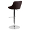 Adjustable Height Barstool - Bucket Seat, Faux Leather, Brown - FLSH-CH-82028-MOD-BRN-GG