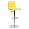 Adjustable Height Barstool - Faux Leather, Yellow