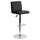 Adjustable Height Barstool - Black, Faux Leather