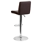 Adjustable Height Barstool - Brown, Faux Leather - FLSH-CH-92066-BRN-GG