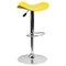 Backless Barstool - Adjustable Height, Faux Leather, Yellow - FLSH-CH-TC3-1002-YEL-GG