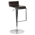 Plastic Adjustable Height Barstool - Brown