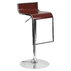 Plastic Adjustable Height Barstool - Burgundy