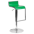 Plastic Adjustable Height Barstool - Green