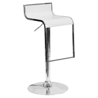 Plastic Adjustable Height Barstool - White