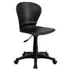 Swivel Task Chair - Low Back, Black Plastic