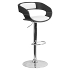 Bentwood Adjustable Height Barstool - Black, White