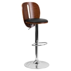 Adjustable Height Barstool - Black, Walnut