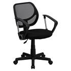 Swivel Task Chair - Low Back, Arms, Black