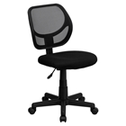 Swivel Task Chair - Low Back, Black