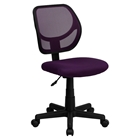 Swivel Task Chair - Low Back, Purple