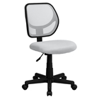 Swivel Task Chair - Low Back, White Mesh